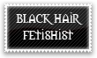 Black Hair Fetishist Stamp by Kyoakuno