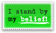 I stand by my belief