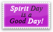 Spirit Day Is A Good Day Stamp by Kyoakuno