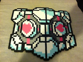 Companion Cube perler by ZanderYurami