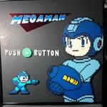Framed Megaman Perler