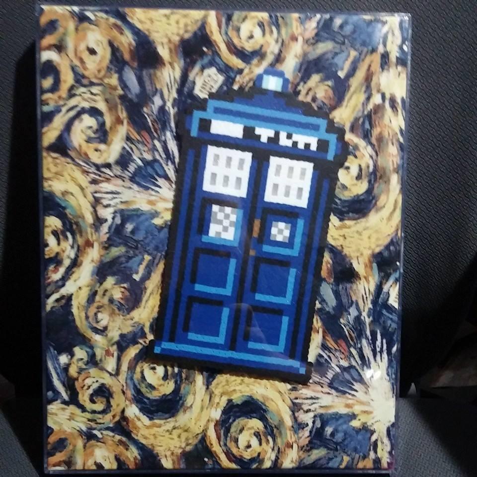 Framed TARDIS perler by ZanderYurami