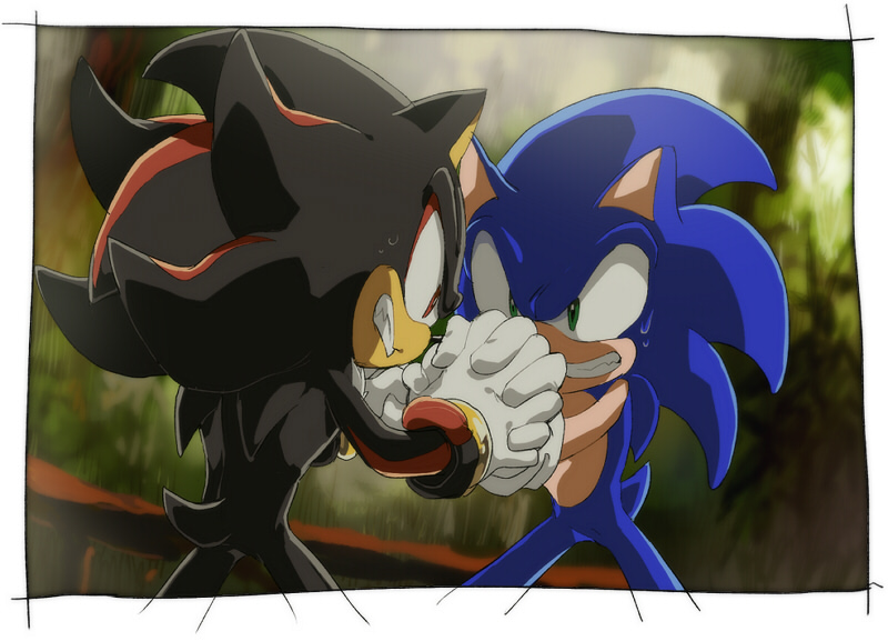 how to draw sonic and shadow fighting