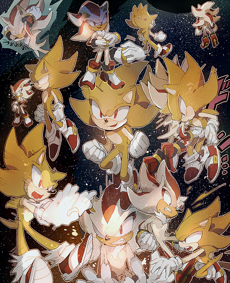 Super sonic and super shadow by aoki6311 on deviantart - Super sonic 6 ...