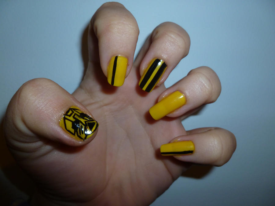 Tf bumble bee nail art by kkmaree on deviantart tf bumble bee nail art by kkmaree prinsesfo Image collections