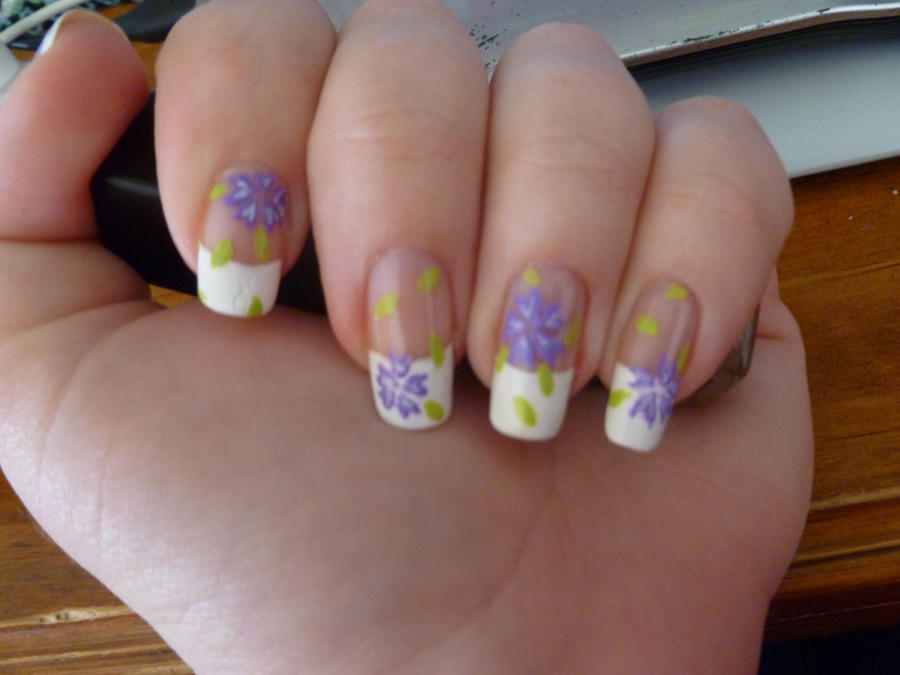 Purple Sakura Nail Art Details by kkmaree on DeviantArt