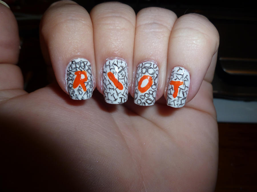 Paramore RIOT Nail Art Line Up by kkmaree on DeviantArt