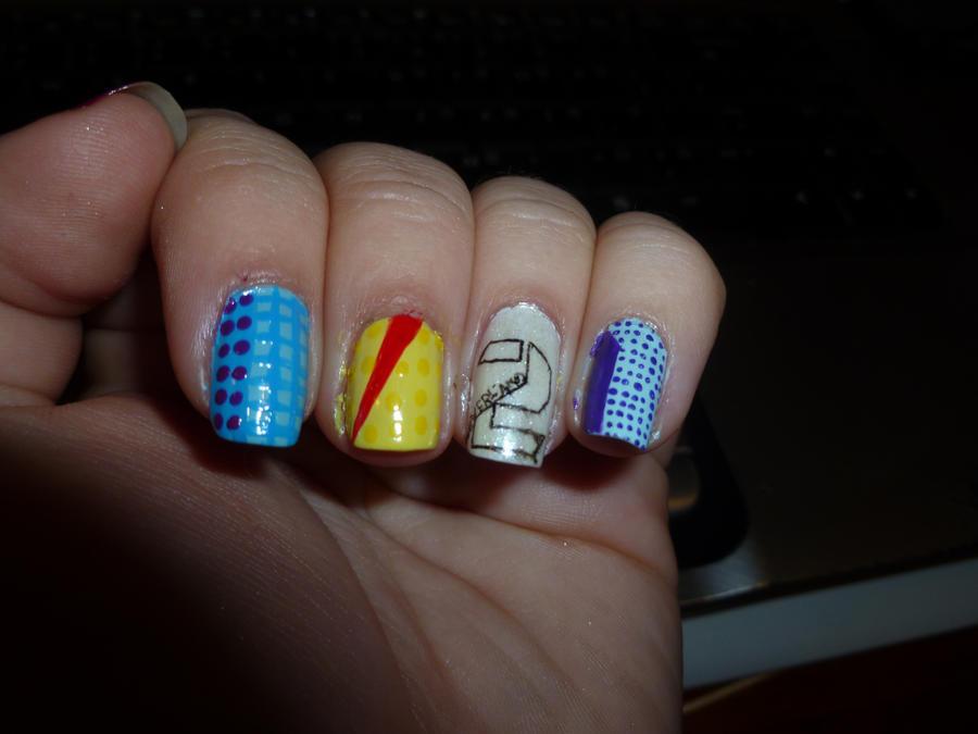One Line Nail Art : Ukiss neverland nail art line by kkmaree on deviantart