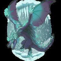 Auroth, the Winter Wyvern by Mythilas