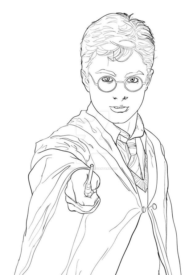 Line Drawing Harry Potter : Harry potter drawing by pauloskinner on deviantart