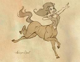 Centaur Girl by GingerOpal