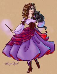 Begonia and Appleblossom by GingerOpal