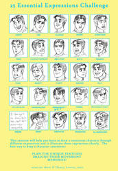 25 Expressions - Kyle by GingerOpal