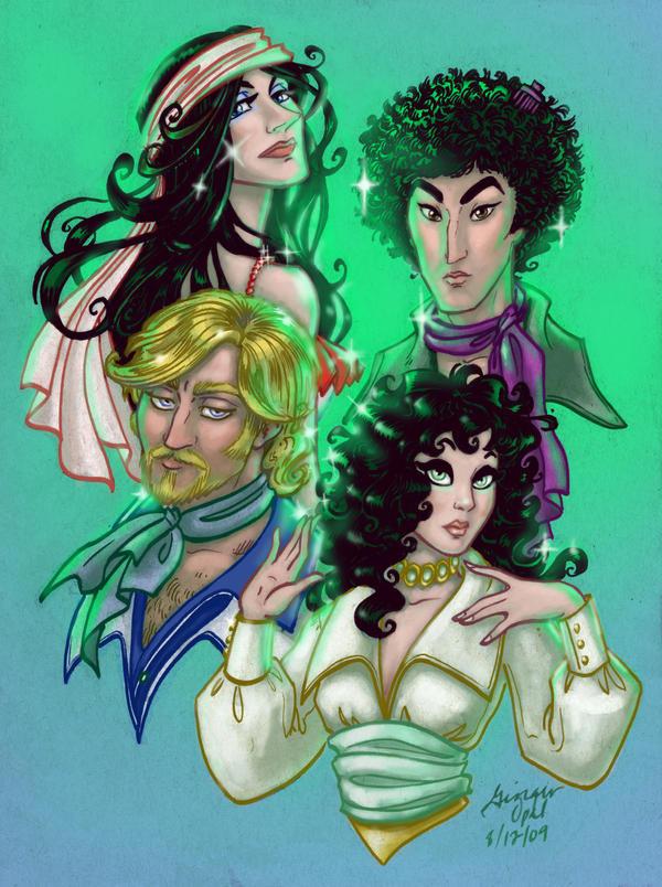 Disco Potraits by GingerOpal