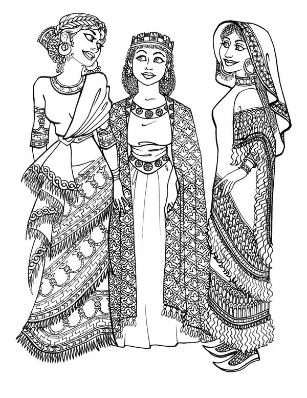 Ancient Assyrian Girls By GingerOpal On DeviantArt
