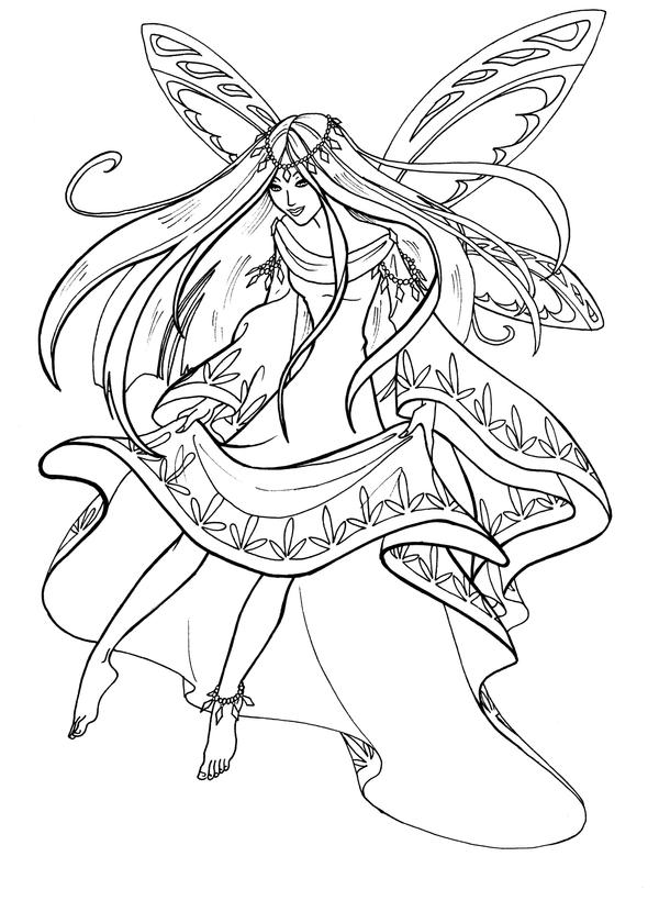 coloring pages of pretty fairies a fairy with pretty feet by gingeropal on deviantart