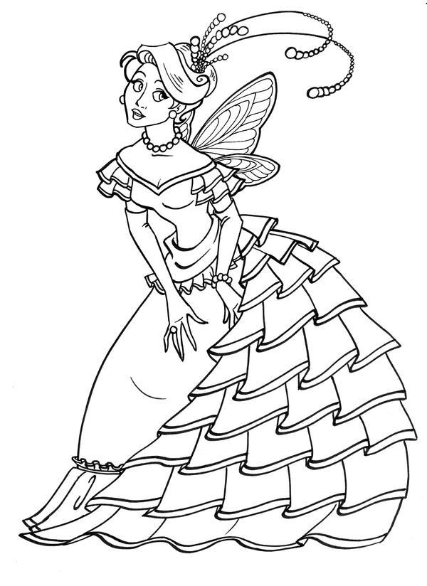 Ruffly Ballgown by GingerOpal