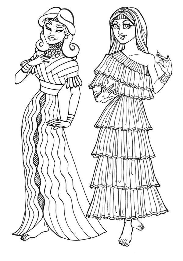 Ancient Sumerian Gals by GingerOpal on DeviantArt