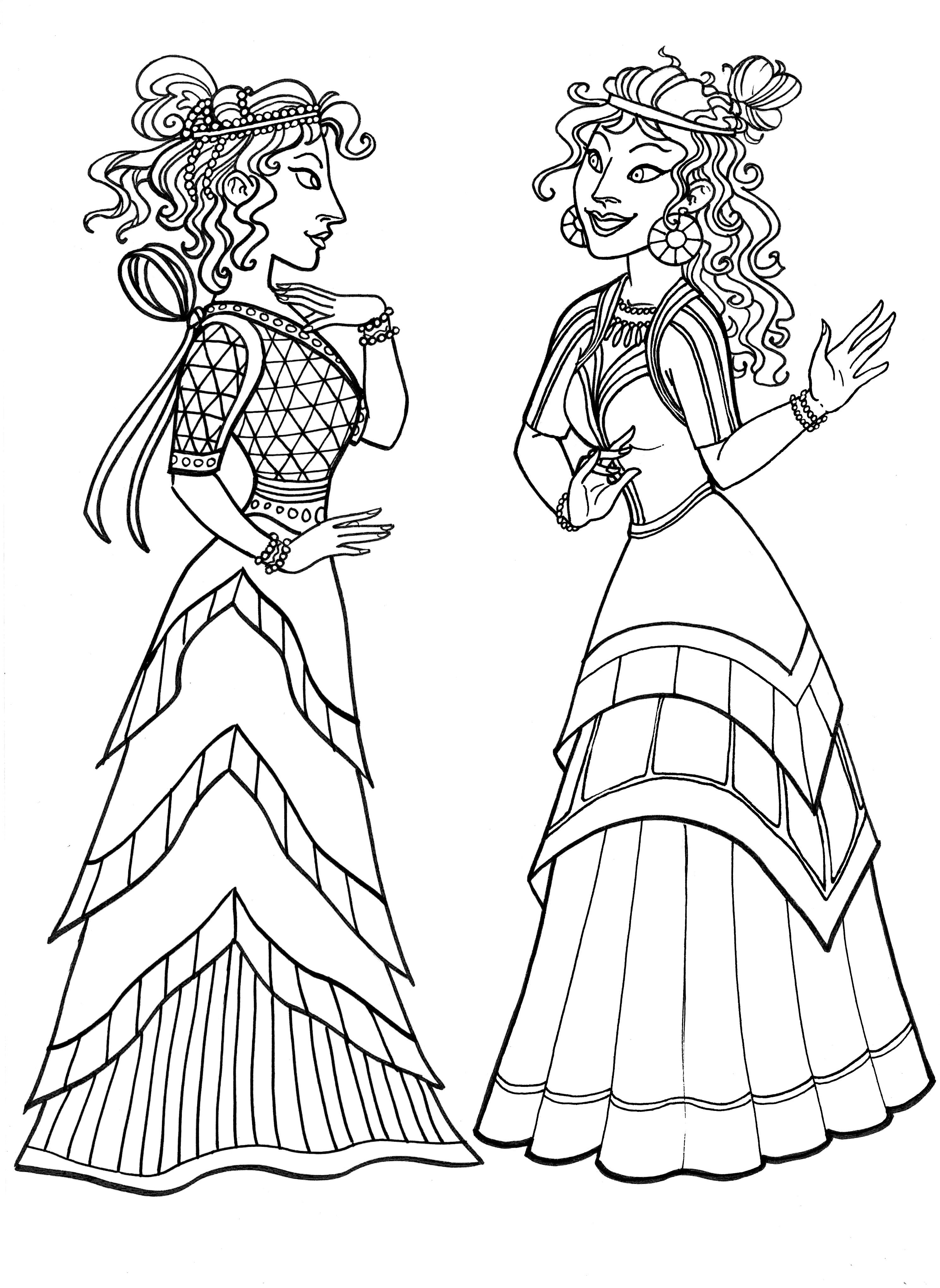 Anime Women Coloring Page