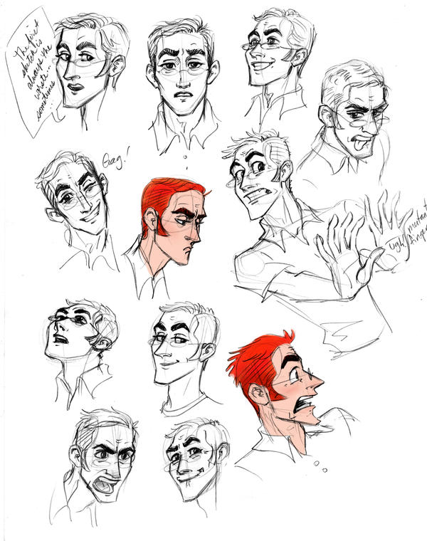 Sloppy Sketches of Ilya by GingerOpal