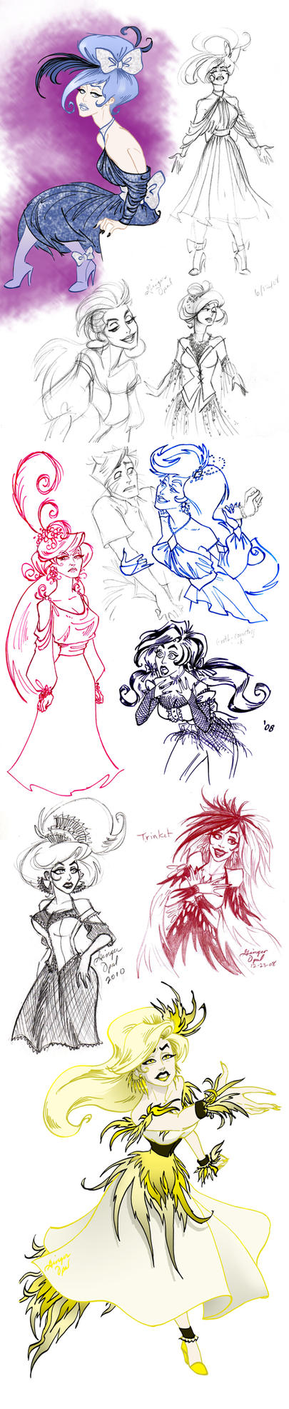 A Sketchdump Full of Trinket by GingerOpal