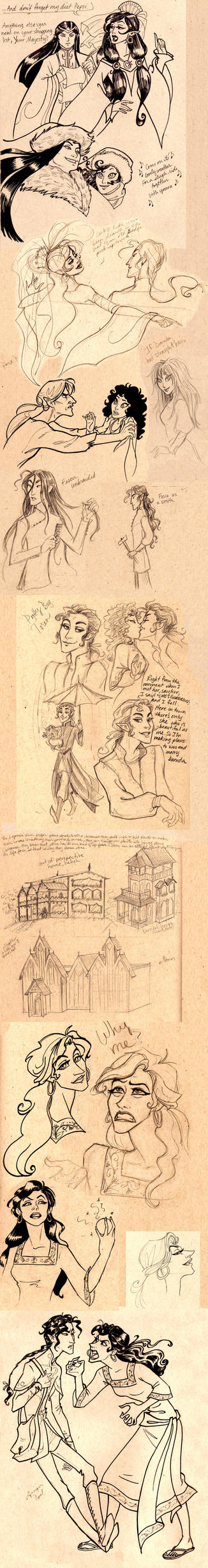 Another RnR Sketchdump by GingerOpal