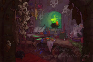 Begonia's Work Room by GingerOpal