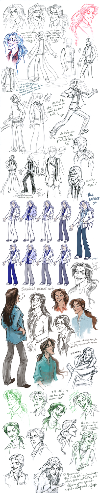 Solidifying Jeremiah's Character Design by GingerOpal