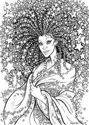 StarFro line art by GingerOpal
