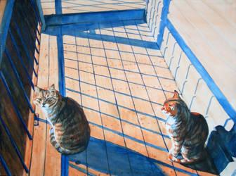 kitties by GingerOpal