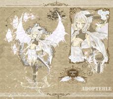 [OPEN] white crystal dragon ADOPTABLE by hadaryos2002