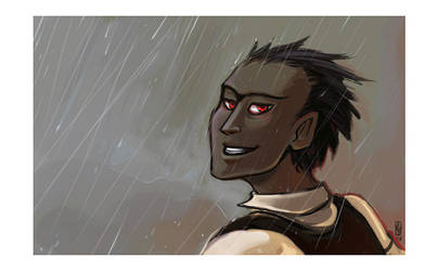 Edmund in the rain by karrey