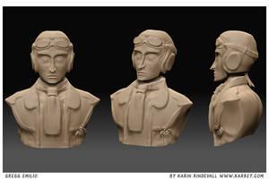 Gregg - 3D sculpture by karrey
