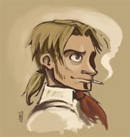Smoking Gregg by karrey