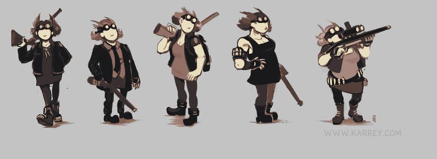 Character Design Thumbnails : Character design thumbnails by karrey on deviantart
