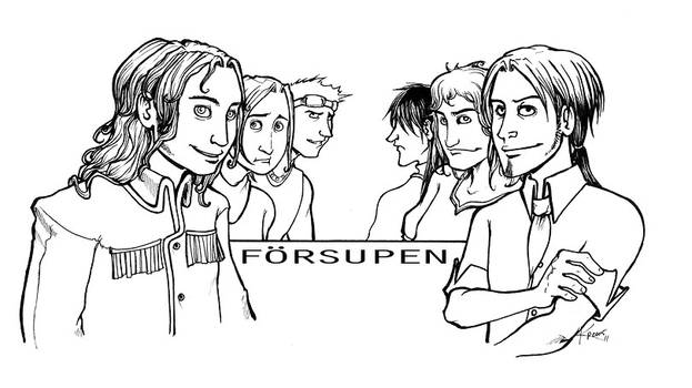 Forsupen male chars lineart by karrey