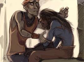 Compelled Hug by karrey