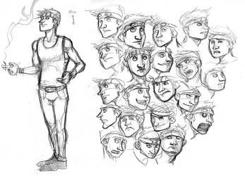 Denilou - expression sheet by karrey
