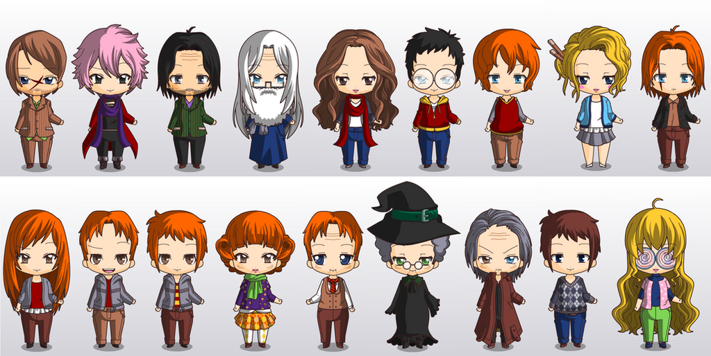 Harry Potter Characters by singlestar1990 on DeviantArt