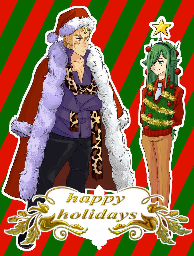 Happy Holidays 2016 - Freed and Laxus by KindaRoyal