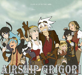 Airship Grigori by Evercelle