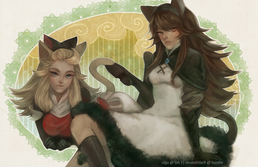 Bravely Default: Edea + Anges by siiju