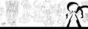 A very horizontally long doodle of RHGs!!!