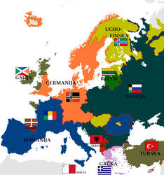 Map of Europe 3 by VittorioMatteo