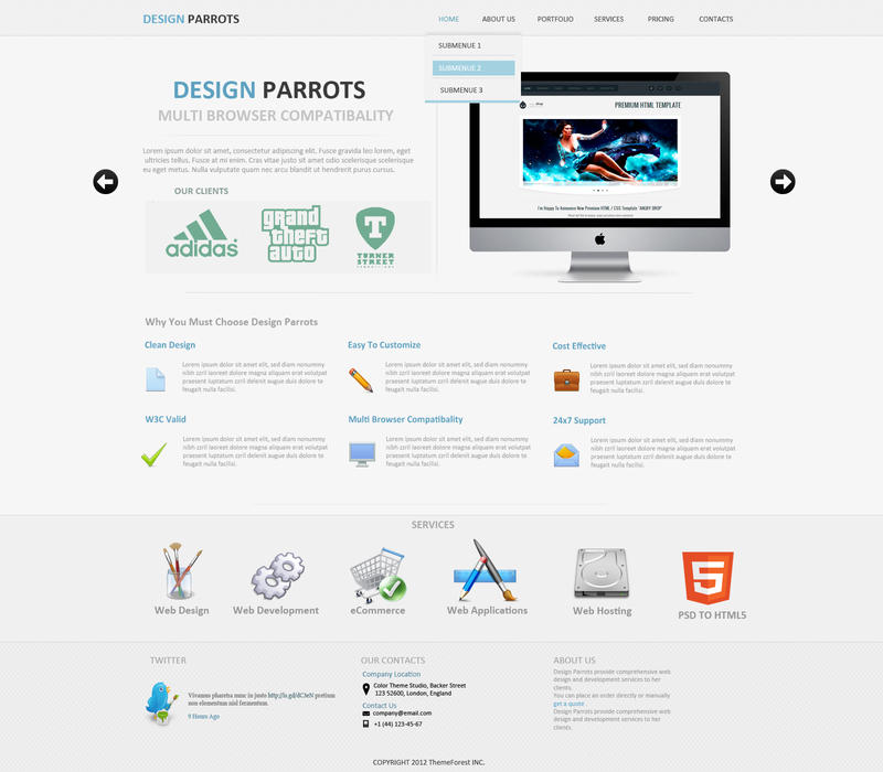 Free faq template faq brochure template design and layout download free design parrots psd web template by whizdesigner on deviantart toneelgroepblik Gallery