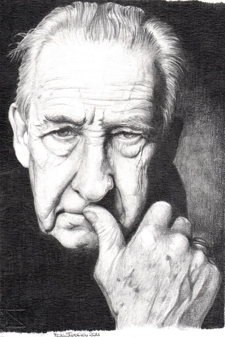 portrait old man step 2 by Edryn83