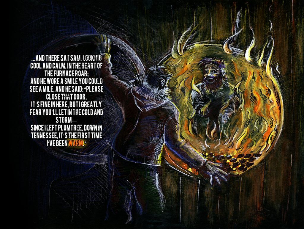The Cremation of Sam McGee by HilendDesign on DeviantArt
