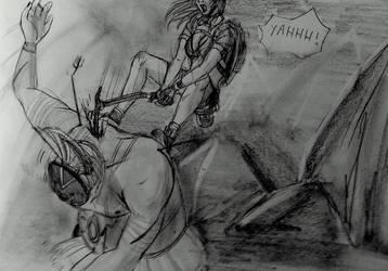 Tomb Raider Lightless - Killing the Colossus by Neilou-X