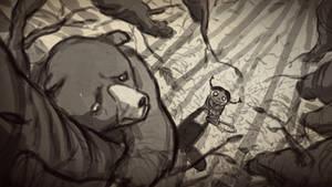 Bear Runs From Girl by bobmeatbag