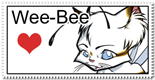 Wee-Bee Love stamp by Bee-chan